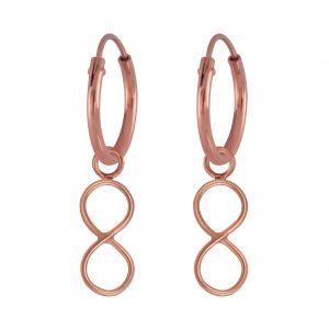 Wholesale Silver Infinity Charm Hoop Earrings