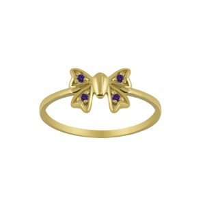 Wholesale Silver Butterfly Cubic Zirconia Ring