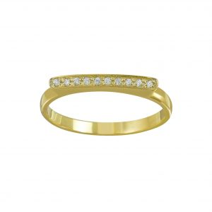 Wholesale Silver Bar Cubic Zirconia Ring