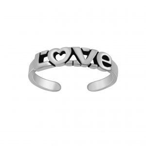 Wholesale Silver Love Adjustable Toe Ring
