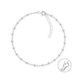 Wholesale 24cm Silver Satellite Anklet With Extension