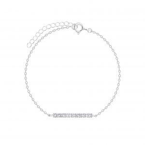 Wholesale Silver Bar Crystal Bracelet