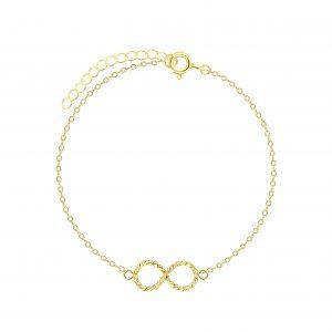 Wholesale Silver Infinity Twist  Bracelet