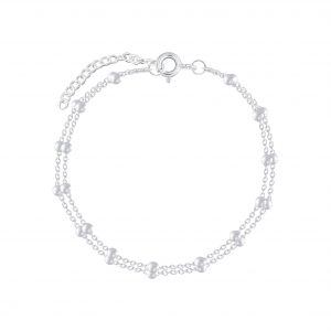 Wholesale 18cm Silver Satellite Bracelet