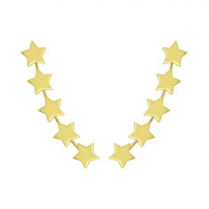 Wholesale Silver Star Ear Climbers