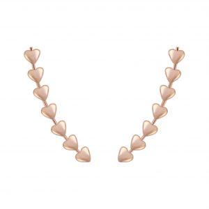 Wholesale Silver Heart Ear Climbers