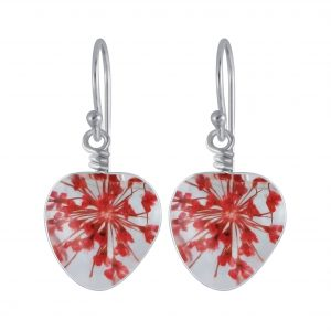 Wholesale Silver Handmade Heart Bead Earrings