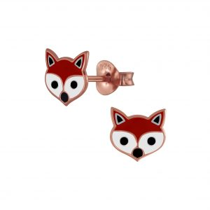 Wholesale Silver Fox Stud Earrings