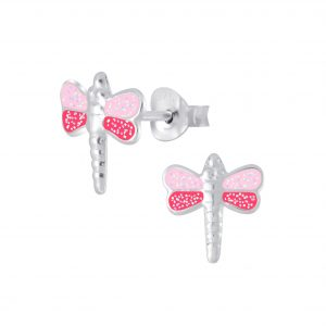 Wholesale Silver Dragonfly Stud Earrings