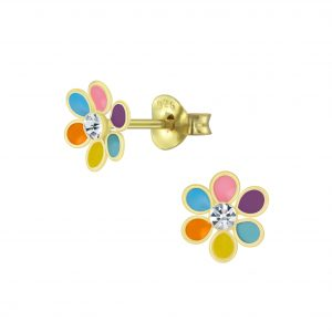 Wholesale Silver Flower Stud Earrings