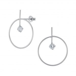 Wholesale Silver Geometric Stud Earrings