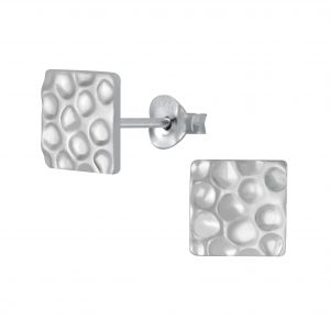 Wholesale Silver Square Stud Earrings
