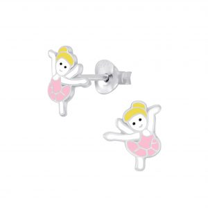 Wholesale Silver Ballerina Stud Earrings