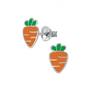 Wholesale Silver Carrot Stud Earrings
