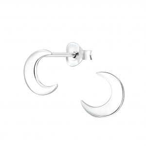 Wholesale Silver Moon Stud Earrings