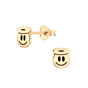 Wholesale Silver Smiley Face Stud Earrings