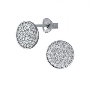 Wholesale Silver Round Stud Earrings