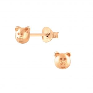 Wholesale Silver Pig Stud Earrings
