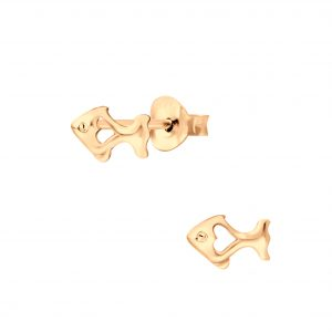 Wholesale Silver Fish Stud Earrings
