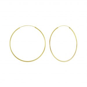 Wholesale 70mm Silver Thick Hoop Earrings