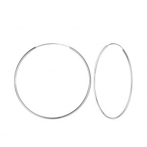 Wholesale 60mm Silver Hoop Earrings