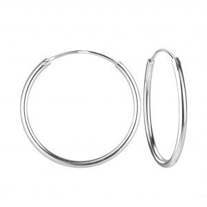 Wholesale 25mm Silver Hoop Earrings