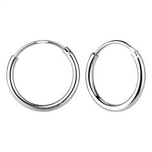 Wholesale 18mm Silver Thick Hoop Earrings