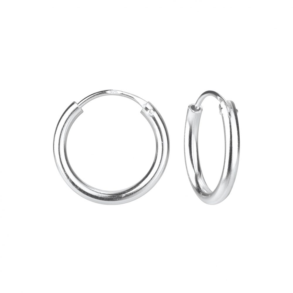 Wholesale 16mm Silver Thick Hoop Earrings