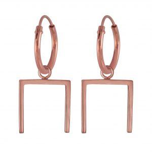 Wholesale Silver Geometric  Hoop  Earrings
