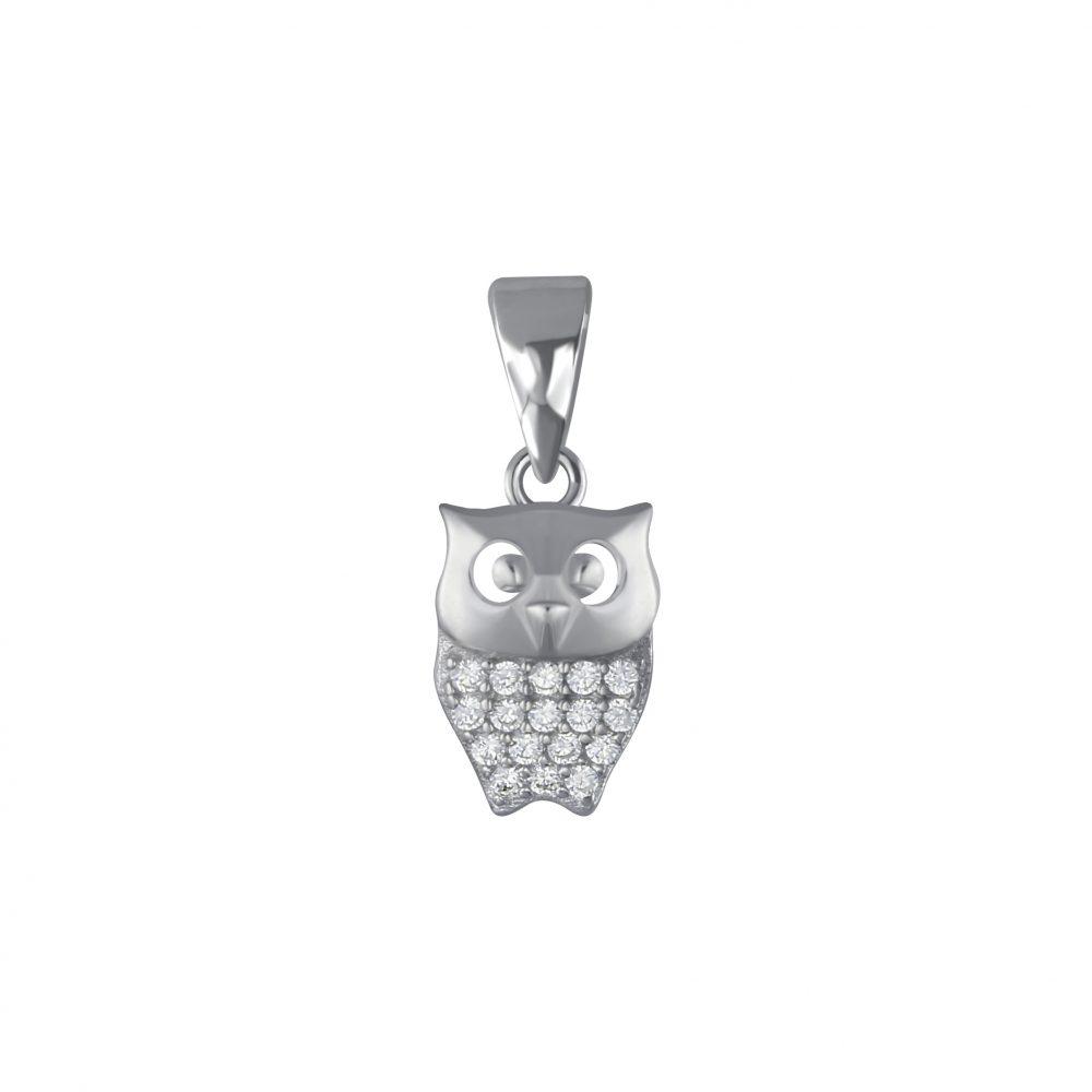 Wholesale Silver Owl Pendant