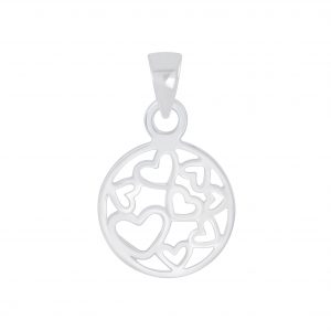 Wholesale Silver Hearts Pendant