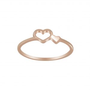 Wholesale Silver Double Heart Ring