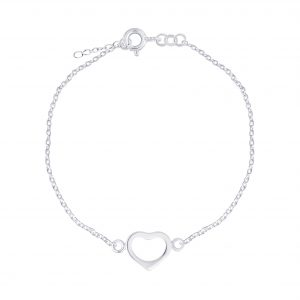 Wholesale Silver Heart Bracelet