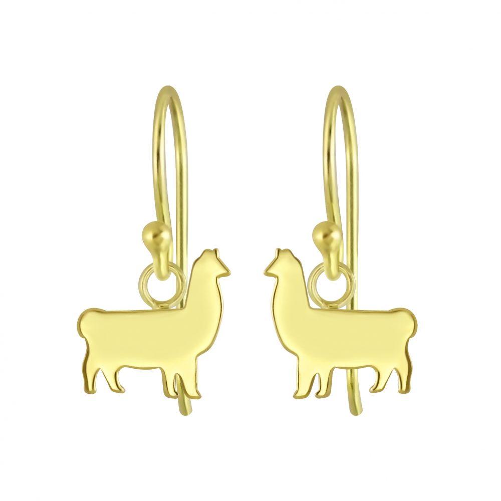 Wholesale Silver Llama Earrings