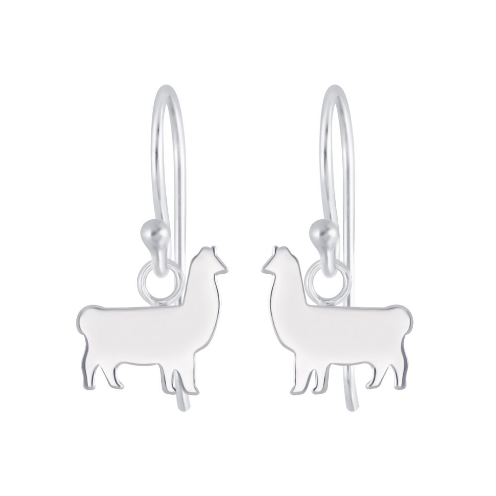 Wholesale Silver Llama Earrings