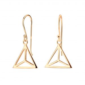 Wholesale Silver Triangle Earrings