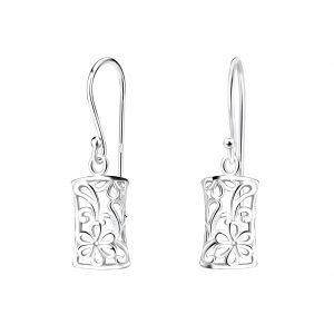 Wholesale Silver Flower Earrings