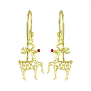 Wholesale Silver Reindeer Earrings