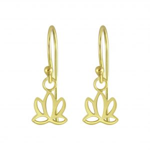 Wholesale Silver Lotus Earrings