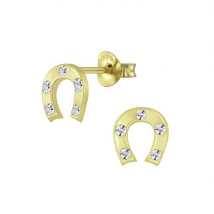 Wholesale Silver Horseshoe Stud Earrings