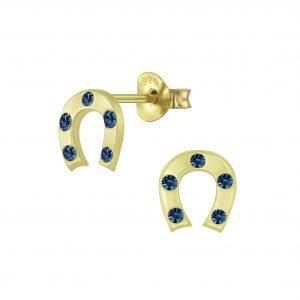 Wholesale Silver Horseshoe Stud Earrings