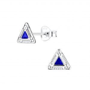 Wholesale Silver Triangle Stud Earrings