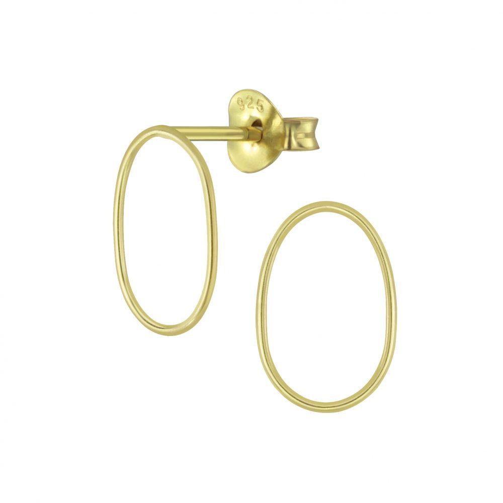 Wholesale Silver Oval Stud Earrings
