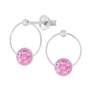 Wholesale Silver Crystal Stud Earrings