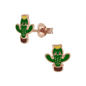 Wholesale Silver Cactus Stud Earrings