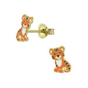 Wholesale Silver Tiger Stud Earrings