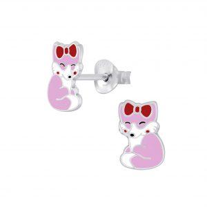 Wholesale Silver Fox Stud Earrings