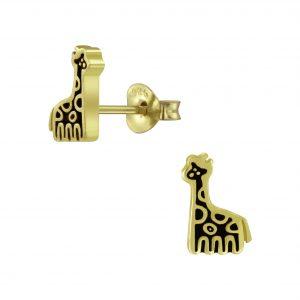 Wholesale Silver Giraffe Stud Earrings