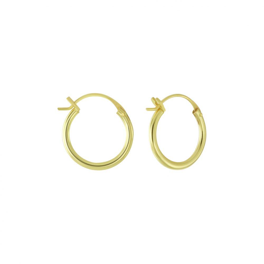 Wholesale 14mm Silver French Lock Hoop Earrings