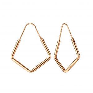 Wholesale 20mm Pentagon Silver Hoop Earrings